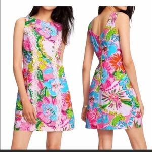 LILLY POLITZER FOR TARGET NOSEY POSEY SHIFT DRESS.